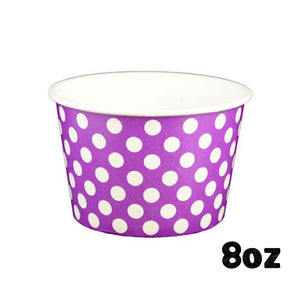 Large Purple Ice Cream Cups: Polka Dot | www.bakerspartyshop.com