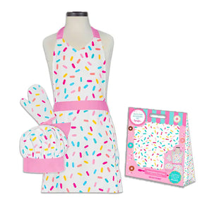 Sprinkles Child Apron Set | www.bakerspartyshop.com