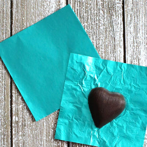 Teal Foil Candy Wrapper | www.bakerspartyshop.com