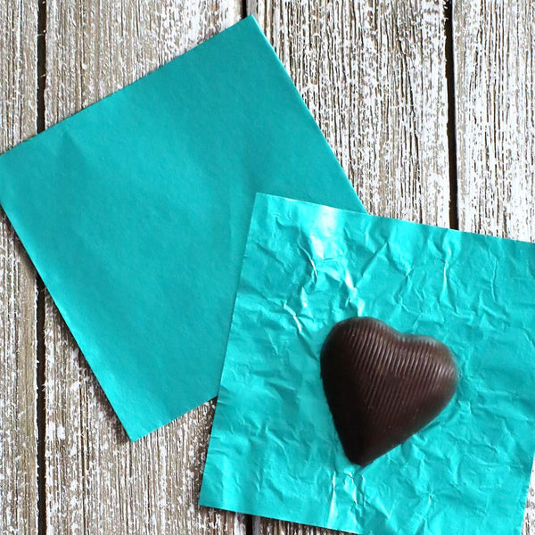 Teal Foil Candy Wrapper Teal Candy Wrappers Candy Bar