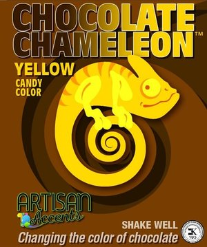 Chocolate Chameleon Yellow Candy Color | www.bakerspartyshop.com