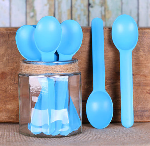 Reusable Ice Cream Spoons: Blue | www.bakerspartyshop.com