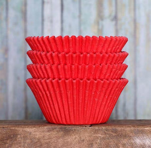 Jumbo Red Cupcake Liners | www.bakerspartyshop.com