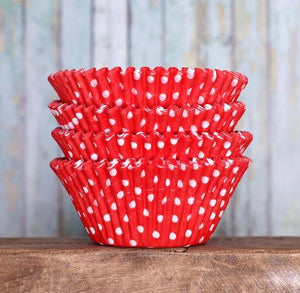 Jumbo Red Cupcake Liners: Polka Dot | www.bakerspartyshop.com