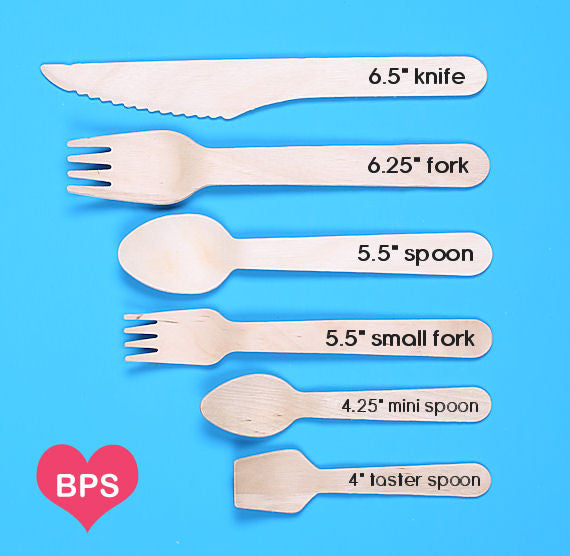 Small Bright Rainbow Wooden Forks: Thanks | www.bakerspartyshop.com