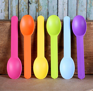 Reusable Ice Cream Spoons: Bright Rainbow | www.bakerspartyshop.com