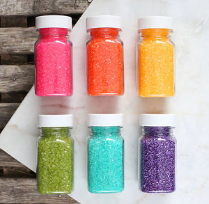 Bright Rainbow Sparkling Sugar Set | www.bakerspartyshop.com