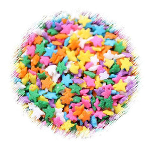 Bright Rainbow Star Sprinkles | www.bakerspartyshop.com