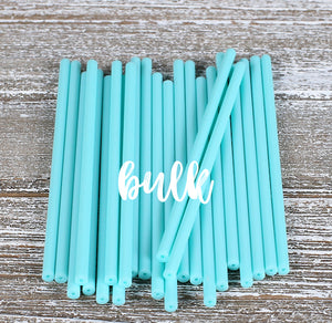 Bulk Light Aqua Lollipop Sticks: 4.5"