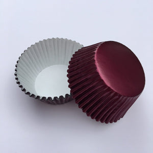 Foil Burgundy Cupcake Liners | www.bakerspartyshop.com