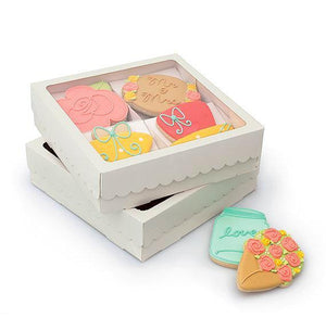 Sweet Sugarbelle Cookie Boxes: Quad White | www.bakerspartyshop.com