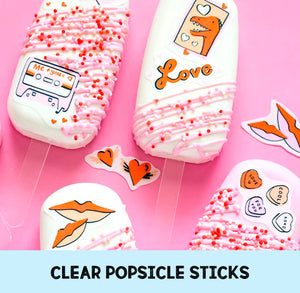 Clear Popsicle Sticks: Acrylic Cakesicle Sticks | www.bakerspartyshop.com