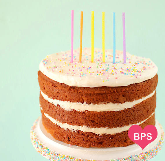 Glitter Yellow Birthday Candles | www.bakerspartyshop.com