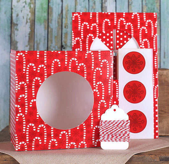 Candy Cane Christmas Cookie Box Kit | www.bakerspartyshop.com
