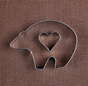 Heart & Polar Bear Cookie Cutters | www.bakerspartyshop.com