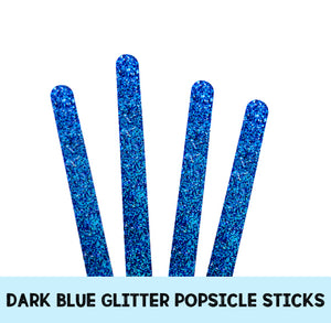 Acrylic Popsicle Sticks: Dark Blue Glitter | www.bakerspartyshop.com