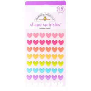 Glossy Rainbow Heart Stickers | www.bakerspartyshop.com