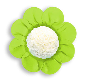 Daisy Flower Candy Cups: Lime Green | www.bakerspartyshop.com