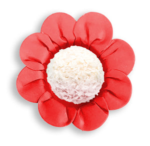 Daisy Flower Candy Cups: Red | www.bakerspartyshop.com