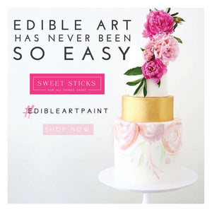 Sharon Wee Edible Art Paint Kit: Deep Pink, Leaf Green, Purple | www.bakerspartyshop.com