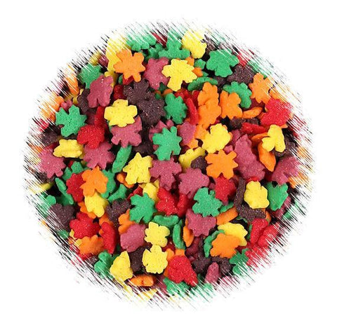 Fall Leaves Quin Sprinkles | www.bakerspartyshop.com