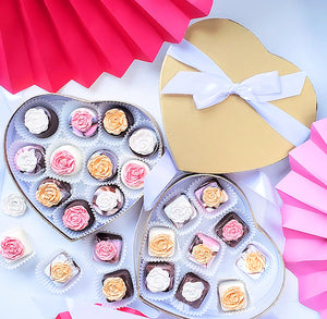 Gold Heart Candy Box Kit | www.bakerspartyshop.com