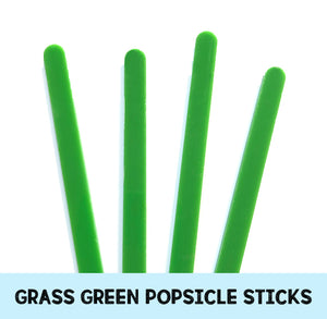 Grass Green Popsicle Sticks: Acrylic Cakesicle Sticks | www.bakerspartyshop.com