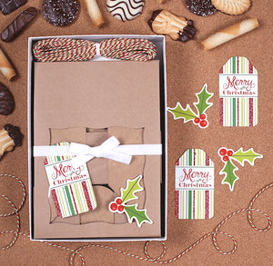 Christmas Cookie Box Kit: Holly | www.bakerspartyshop.com
