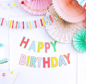 Happy Birthday Banner: Hip Hip Hooray | www.bakerspartyshop.com