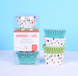 Mini Cupcake Liners: Party Dots | www.bakerspartyshop.com