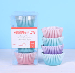 Mini Cupcake Liners: Pastel | www.bakerspartyshop.com