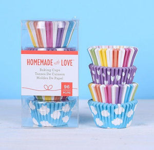 Mini Cupcake Liners: Clouds + Rainbow | www.bakerspartyshop.com