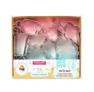 Ice Cream Shop Cookie Cutter Set | www.bakerspartyshop.com