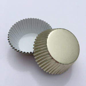 Foil Ivory Cupcake Liners | www.bakerspartyshop.com