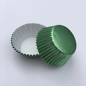 Foil Light Green Cupcake Liners | www.bakerspartyshop.com