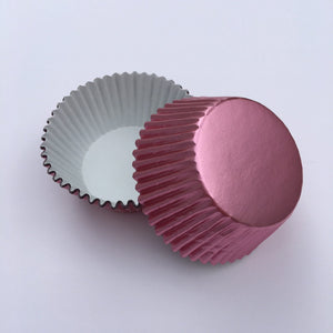Foil Light Pink Cupcake Liners | www.bakerspartyshop.com