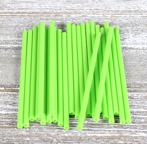 Lime Green Lollipop Sticks: 4.5"