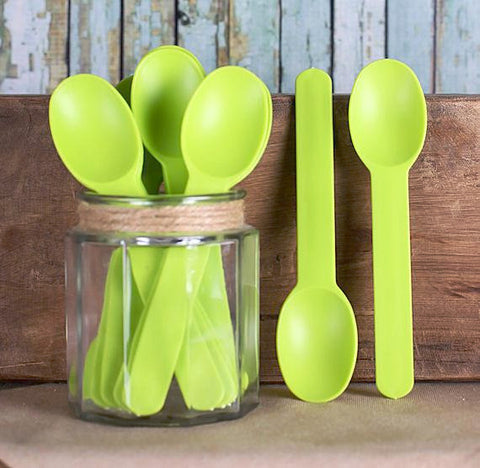 Reusable Ice Cream Spoons: Lime Green | www.bakerspartyshop.com