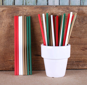 "Classic Christmas Lollipop Sticks (4 1/2"") 
