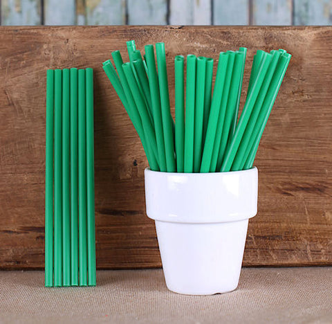 "Dark Green Lollipop Sticks (4 1/2"") 