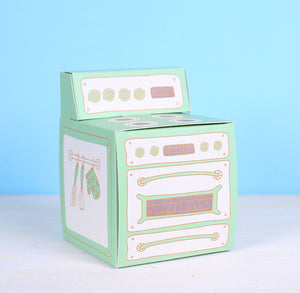 Vintage Oven Cupcake Box: Mint