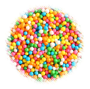 Bulk Tiny Crisp Rice Rainbow Toppings | www.bakerspartyshop.com