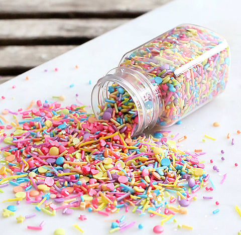 Sprinklefetti Unicorn Rainbow Sprinkle Mix | www.bakerspartyshop.com