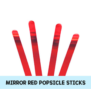 Mirror Red Popsicle Sticks: Acrylic Cakesicle Sticks | www.bakerspartyshop.com