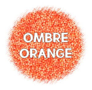 Ombré Nonpareils Mix: Orange | www.bakerspartyshop.com