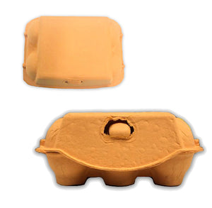 Orange Egg Cartons: 6 Egg | www.bakerspartyshop.com