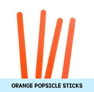 Orange Popsicle Sticks: Acrylic Cakesicle Sticks | www.bakerspartyshop.com