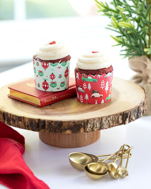 Christmas Baking Cups: Ornaments + Truck | www.bakerspartyshop.com