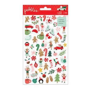 Pebbles Christmas Stickers: Mini Sticker Book | www.bakerspartyshop.com