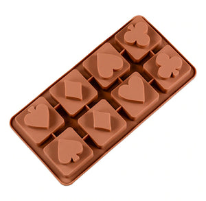 Playing Card Suits Chocolate Mold